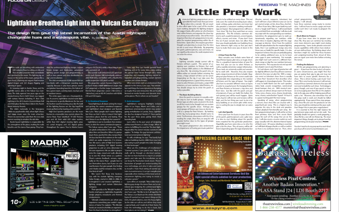 Lightfaktor Breathes Light into the Vulcan Gas Company