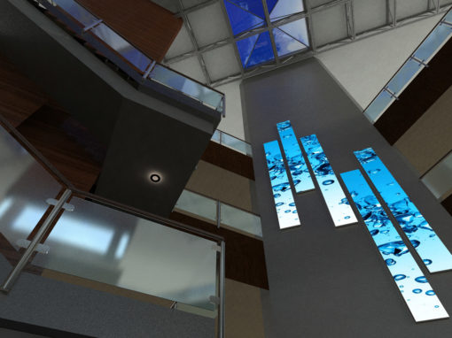 Austin Hospital Atrium Project – Soft LED Pixel Art Wall