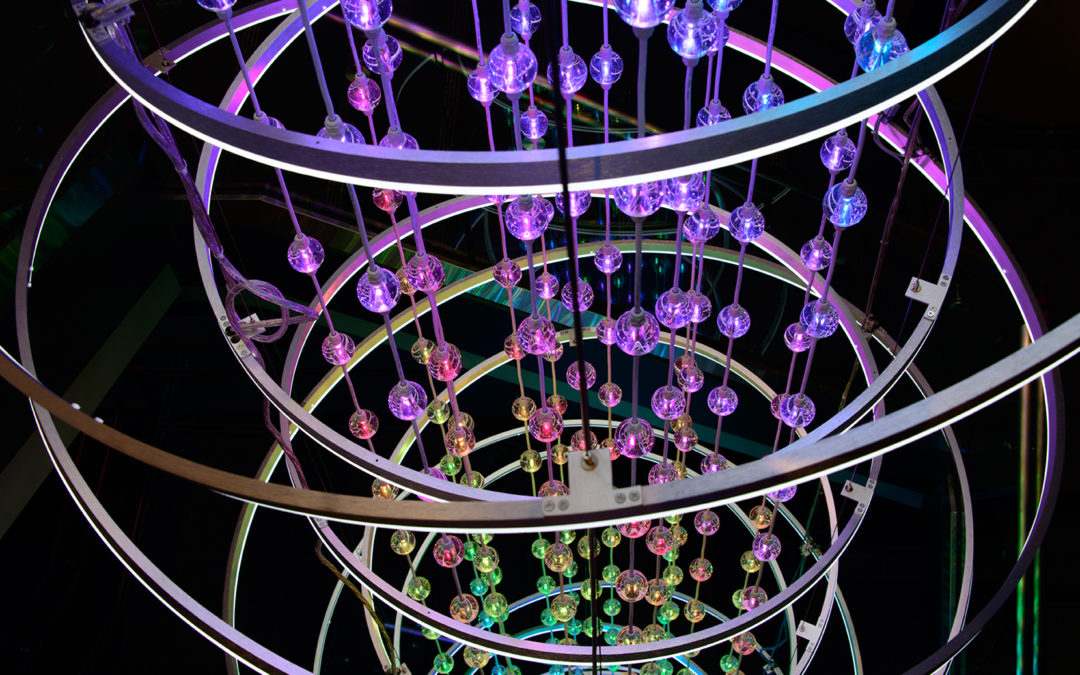 LITdESIGN'S Atolla Chandelier for Top Golf